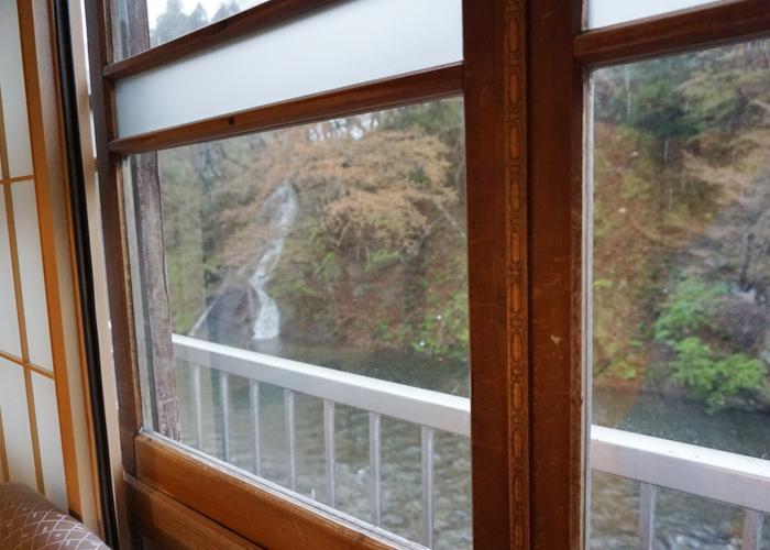 花巻温泉郷 藤三旅館の部屋から見た景色
