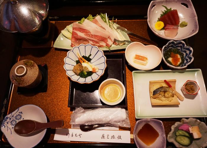 花巻温泉郷 藤三旅館の夕食